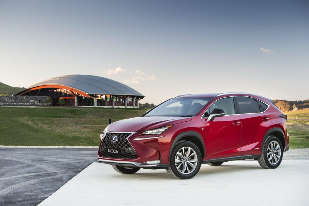 The Lexus NX300h.