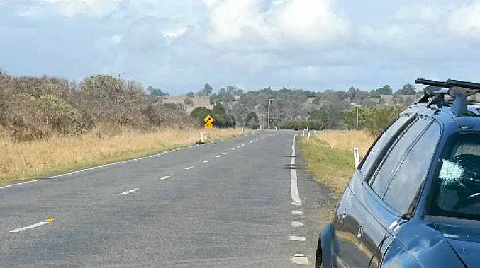 A good Samaritan who went to the aid of a woman broken down at the side of the road was attacked with a chain