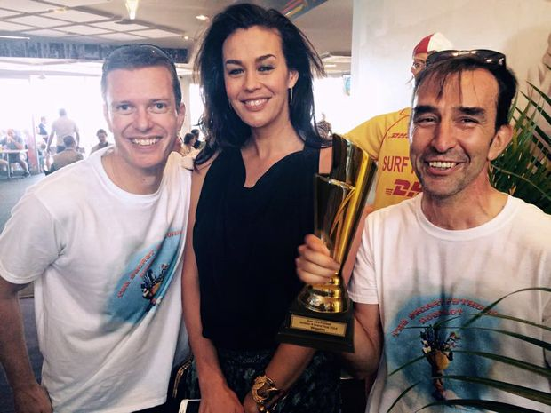 The Pythons got a shock when Megan Gale turned up.