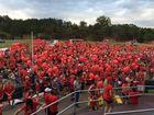Crowd shot of Walk for Daniel 2014.