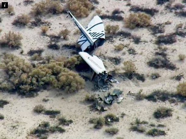 Virgin Galactic space rocket crash: One pilot dead and another seriously injured after SpaceShipTwo