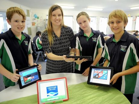 Riverside Christian College teacher Samantha Carpenter, who has been nominated for an Excellence in Teaching Award, uses iPads in her Year 6 class to help remain