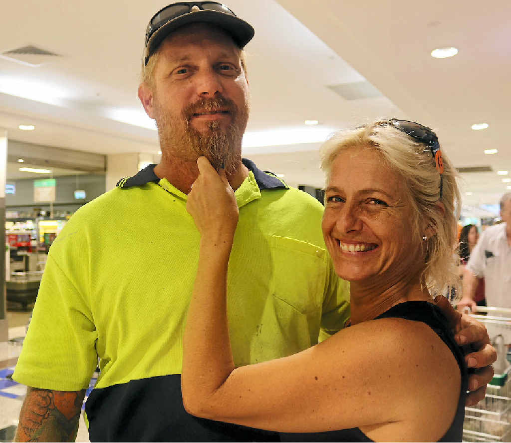 LIP SERVICE: Tracey accepts that husband Lee Pavlov's moustache is here to stay.