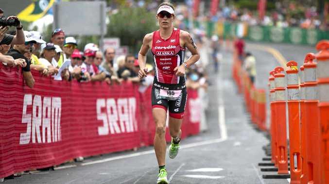 Caroline Steffen at the Hawaii Ironman this year.