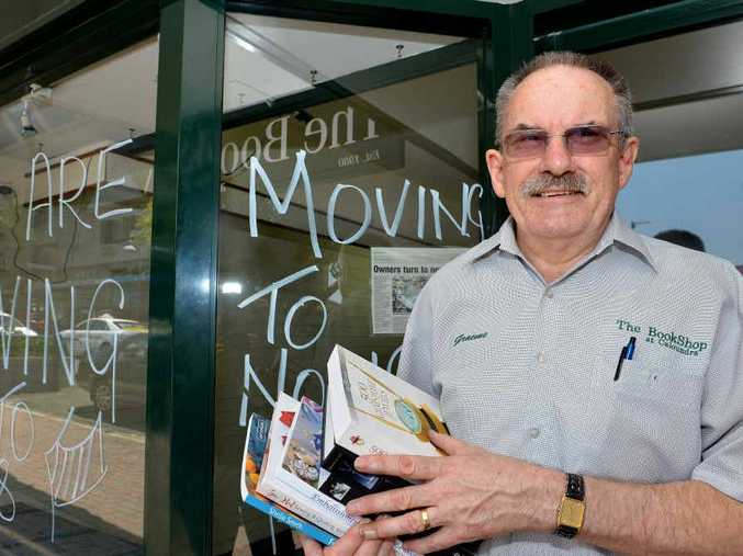 A MOVING STORY: Graeme Bowden of The Bookshop in Caloundra is moving his business down the road.