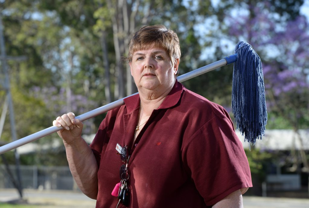 Chris Rowntree fears she will be one of 400 school cleaners in the Ipswich area to have their jobs outsourced.