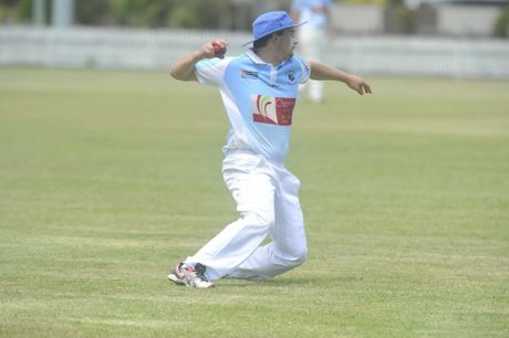 Ballina Bears fielder Ben Corruthers during the game against the Casino Cavaliers at Fripp Oval in Ballina.
