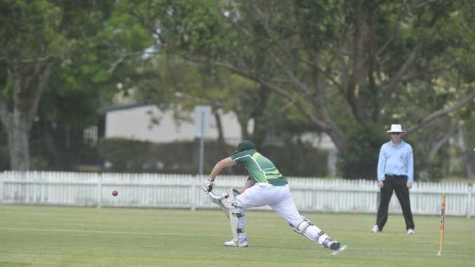 Casino Cavaliers batsman Trent Bennett during the game against Ballina Bears at Fripp Oval in Ballina.