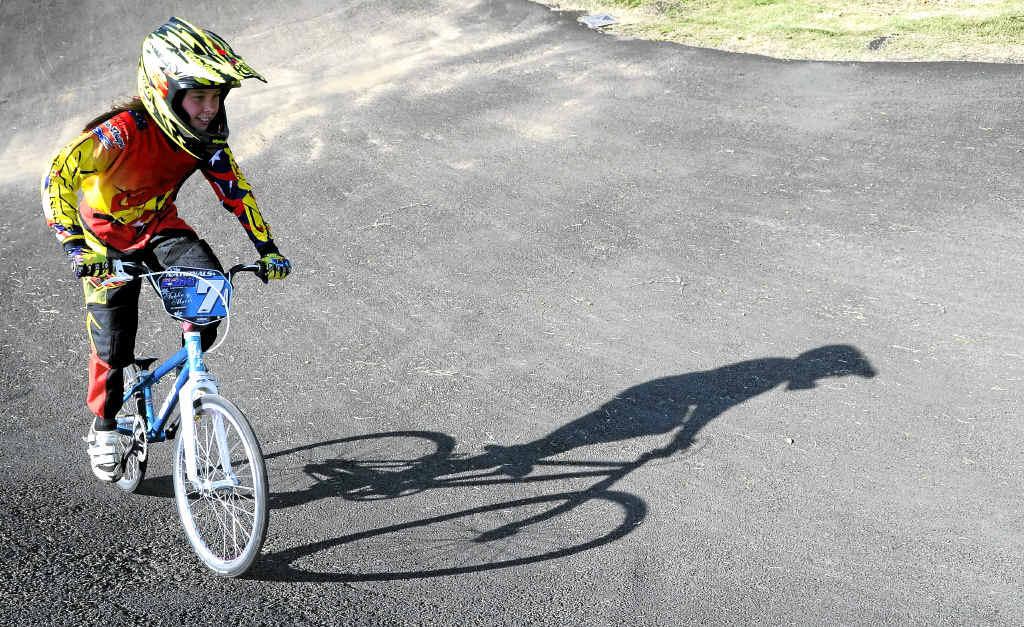 MIGHTY TAHLIA: Clarence Valley BMX club member Tahlia Marsh represented Australia at the Mighty 11s in New Zealand. PHOTO: DEBRAH NOVAK