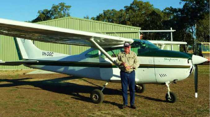 DAM GOOD IDEA: Roger Toole can see the potential for Dominic Doblo's Gap Dam, after flying over the proposed site on the Fitzroy River in his light aircraft many times.