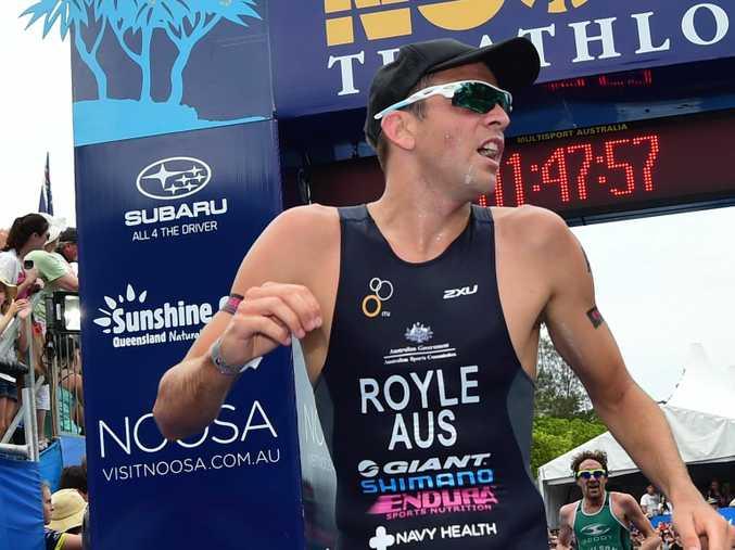 Aaron Royle has won his second successive Noosa Triathlon