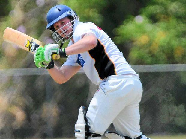 FINE SHOT: Caloundra batsman Sam Pierpoint turns the ball leg side against Maroochydore.