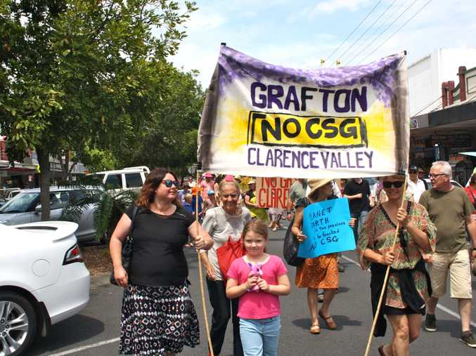 A contingent from the Clarence Valley joined Saturday's anti-CSG march in Lismore.