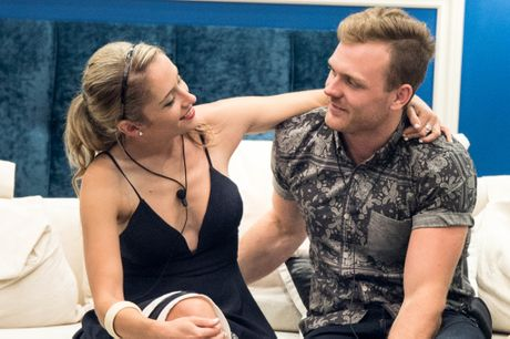 Cat Law and Lawson Reeves inside the Big Brother house.