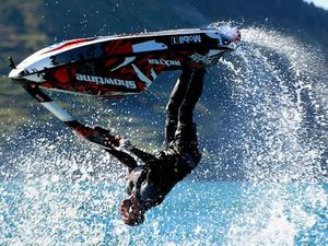 Jetski stunt ends in disaster for NZ daredevil