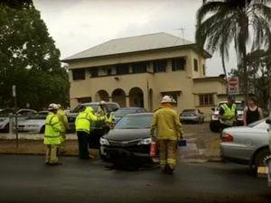 Two Vehicle Crash outside Maryborough Base Hospital
