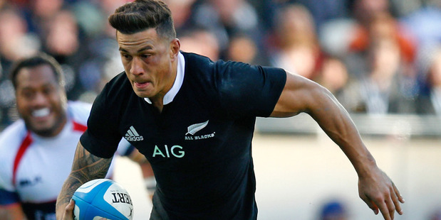 New Zealand's Sonny Bill Williams in action for the All Blacks. Photo / Getty Images