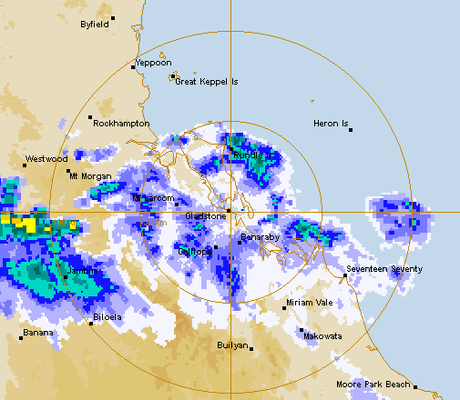 The Gladstone weather radar at 11.30am on November 3.