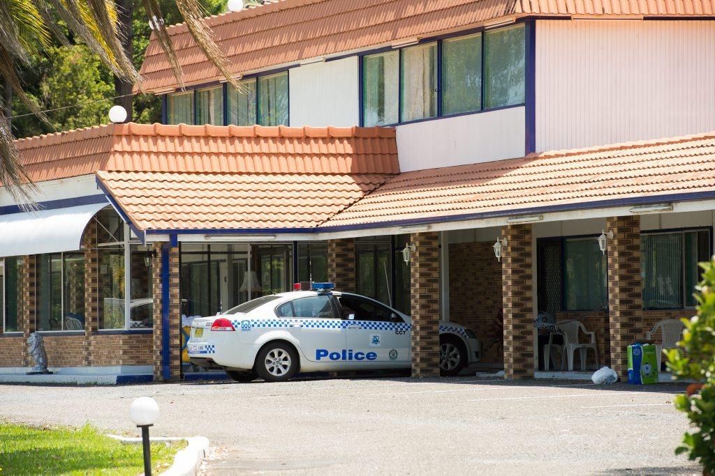 crime scene arosa motel Photo: Trevor Veale / The Coffs Coast Advocate