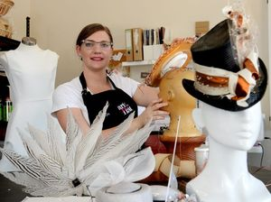 Kim's hat set for Myer Fashions on the Field Millinery Award