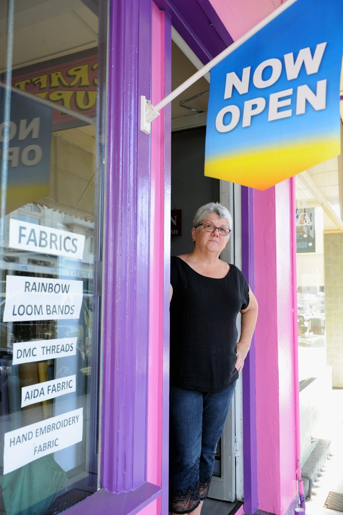 Craft Cupboard owner Karen Kruger will lose business when her shop in Bazaar St is closed while undergoing treatment for termites.