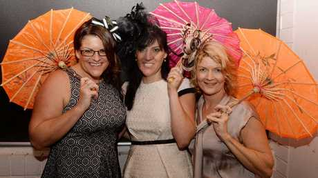 Marnie Smith, Vanessa Stewart and Dianne Kerr at the Our Kids Melbourne Cup Luncheon fundraiser.