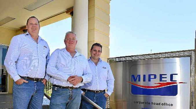 MILESTONES: MIPEC's Errol Milevskiy, Steve Beale and Ken Brundell at their new head office in Gladstone.