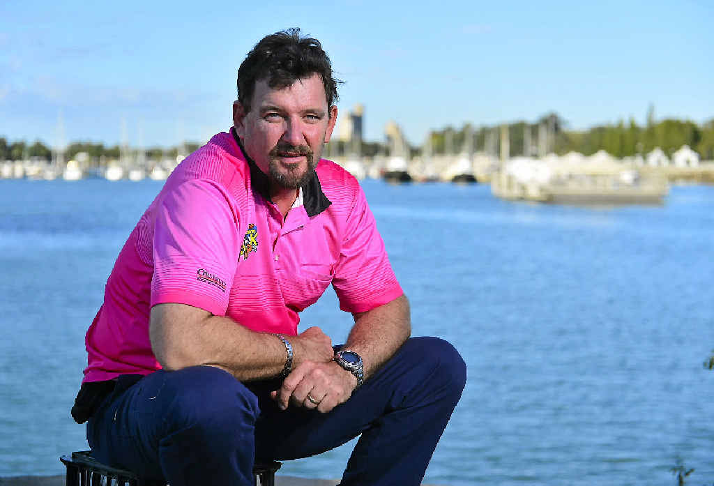 BEST OF BOTH WORLDS: Pat Laws just loves the Gladstone marina for work or play.