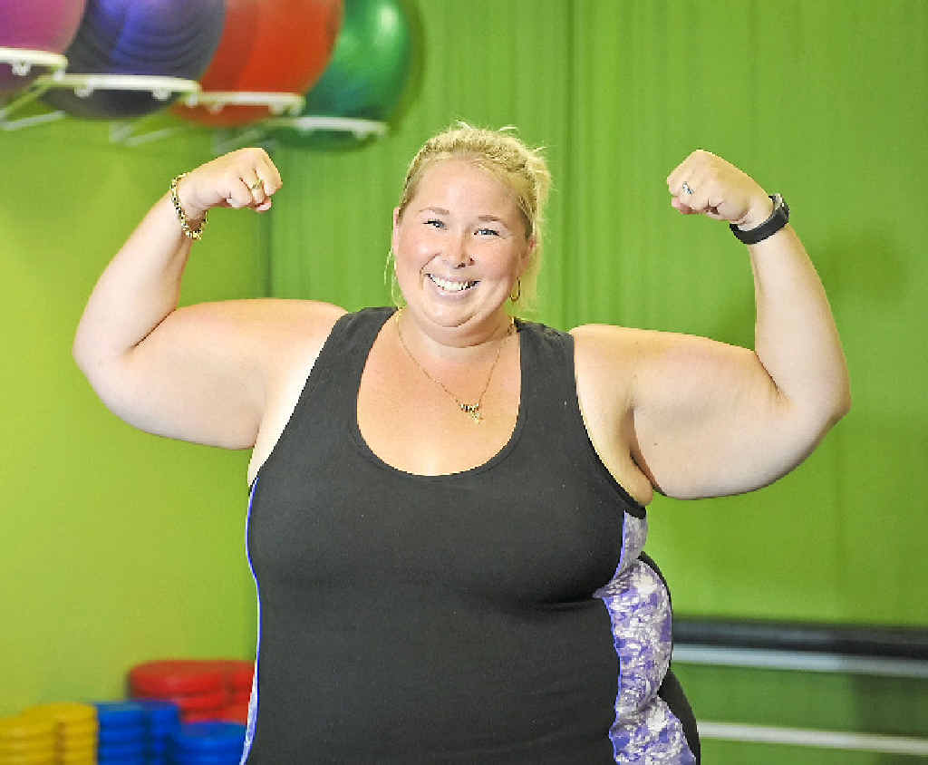 NEVER FELT BETTER: Simone Mackie is determined to improve her fitness, attending the Urban Fitness gym in Calliope every day.