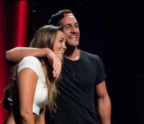 Big Brother sweethearts Aisha McKinnon and Travis Lunardi.