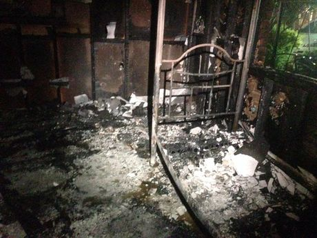 The damage caused by an overnight house fire in Toowoomba.
