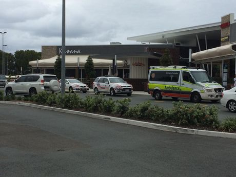 A Kawana Shopping World security guard was allegedly attacked.