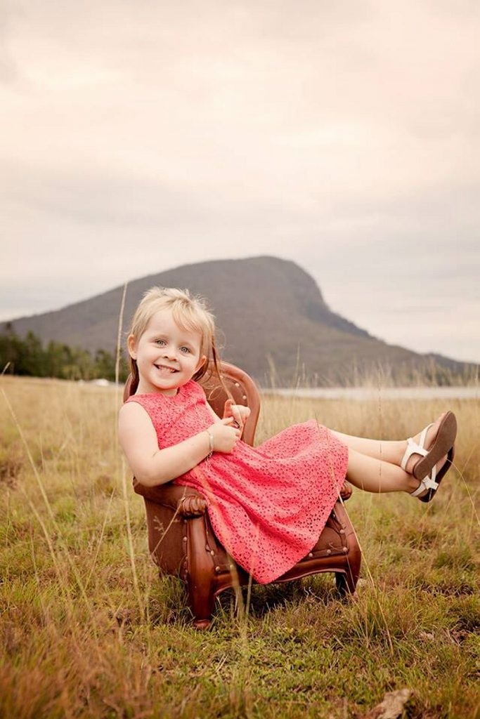 Five-year-old Charlee Ferrar passed away on Sunday after a 19 month battle with cancer. Photo: Contributed