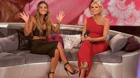 Big Brother evictee Aisha McKinnon with host Sonia Kruger.