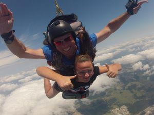 Cancer survivor conquers sky high challenge
