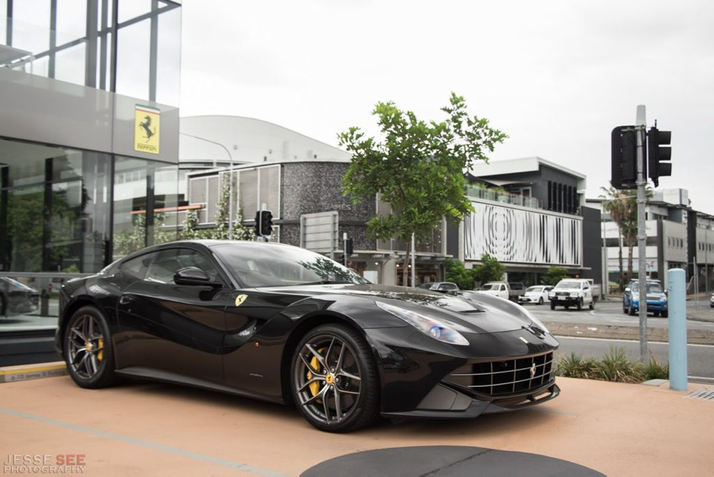 The Ferrari F12 Berlinetta.