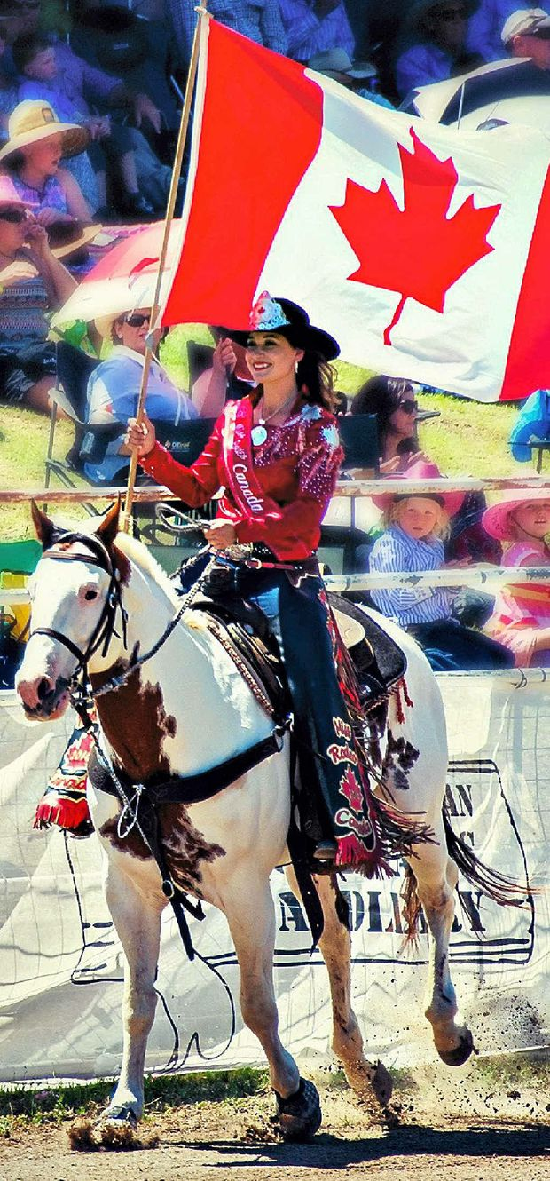 SHINING EXAMPLE: Miss Rodeo Canada Nicole Briggs.