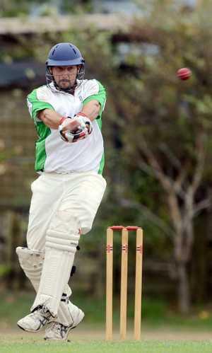 Andrew Lindsay batting for The Lennox Head Pirates.