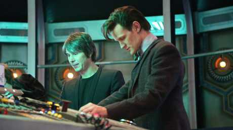 Professor Brian Cox pictured with Doctor Who star Matt Smith in The Science of Doctor Who.