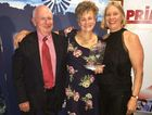 OLD GOLD WINNERS: receiving the award are organisers Bruce McMaster, Linda Hibbard and Kim Rosen.