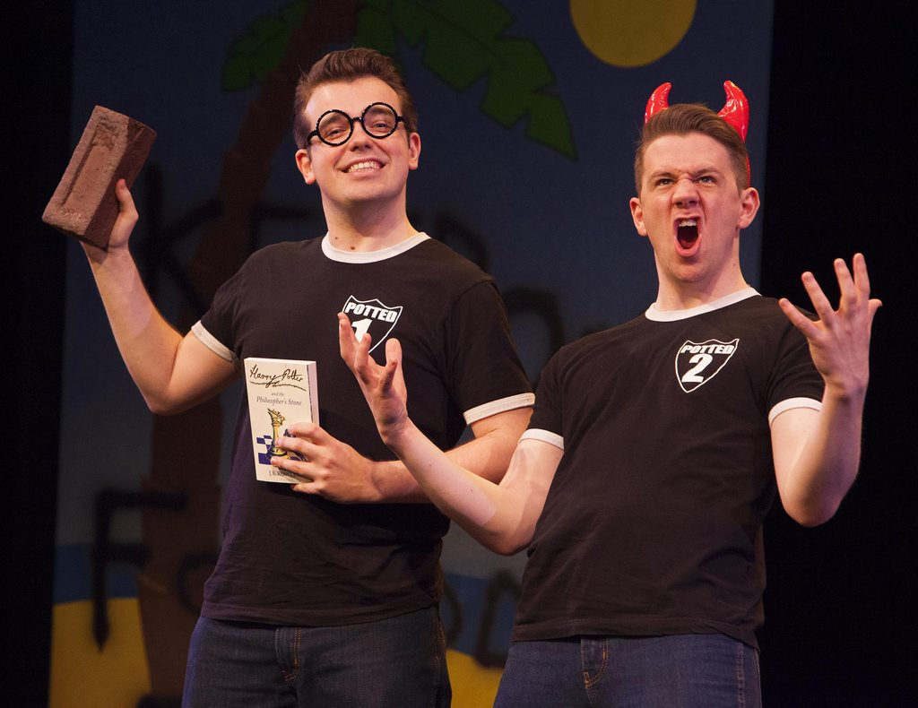 James Percy, left, and Ben Stratton in Potted Potter.