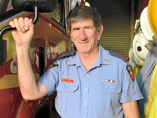MORE FAMILY TIME: Childers' Queensland Fire and Emergency Services captain Col Santacaterina retires after 35 years of service. His last day will be Monday.