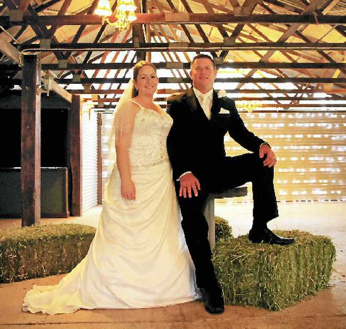 LEFT: Anne-Marie and Scott Fulloon on their wedding day, at Cedar Galleries.