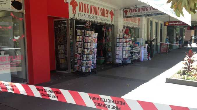 Fire investigators are at King Kong Sales on Lowe St.