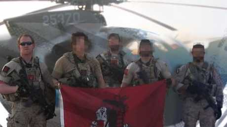 The crew of Navy SEAL team six, showing the face of Robert O'Neill who claims he fired the shot that killed Osama bin Laden