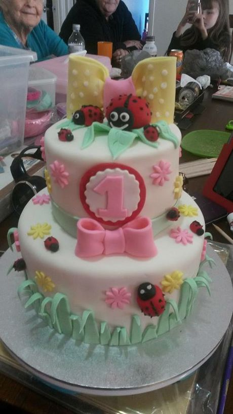 Rochelle Radburn made this cake for her niece's first birthday.