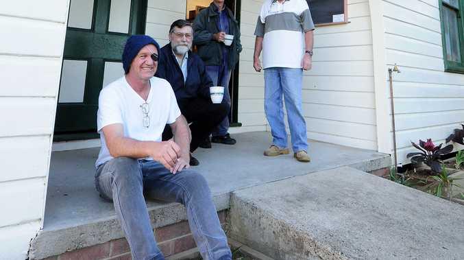 His efforts with Urunga Museum saw Gary Barnett (front) named 2014 Bellingen Australia Day Citizen of 2014.