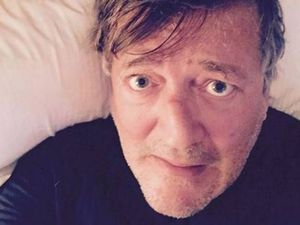 Stephen Fry's engagement ring nearly eaten