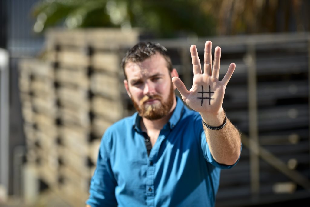 Matthew Matthews is calling for an end to violence in APN's #HandsOff campaign.