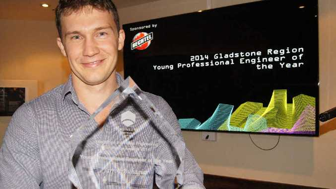 Jarrod Buhagiar was named Gladstone Regional Young Professional Engineer of the Year.